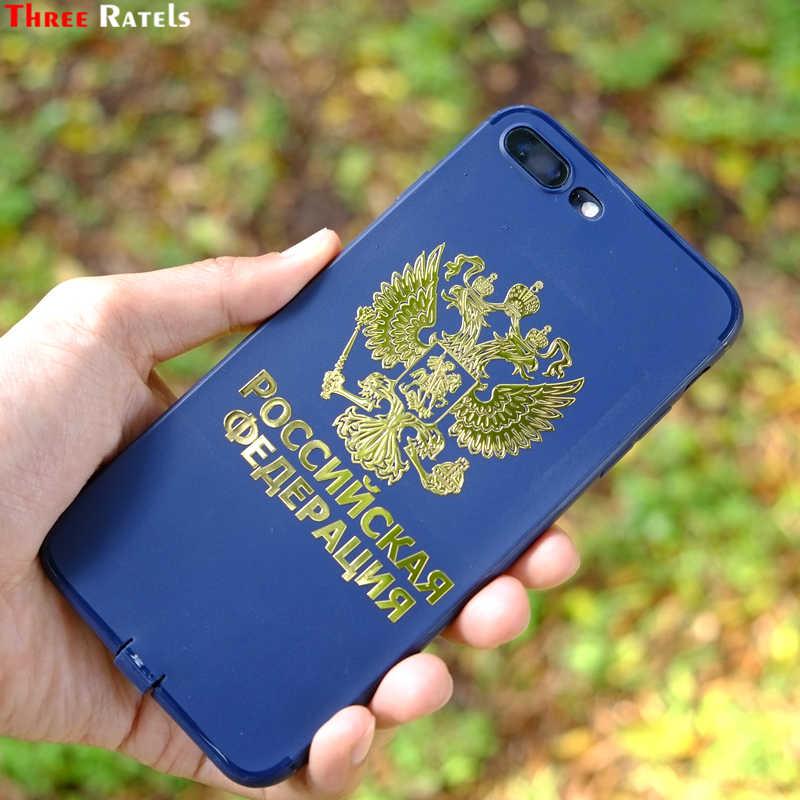 Three Ratels MT-018# 124*80мм 101*65мм 1-2 шт никель никелевые металиические наклейки на авто телефон герб россии российскя федерация на русском наклейка на автомобиль