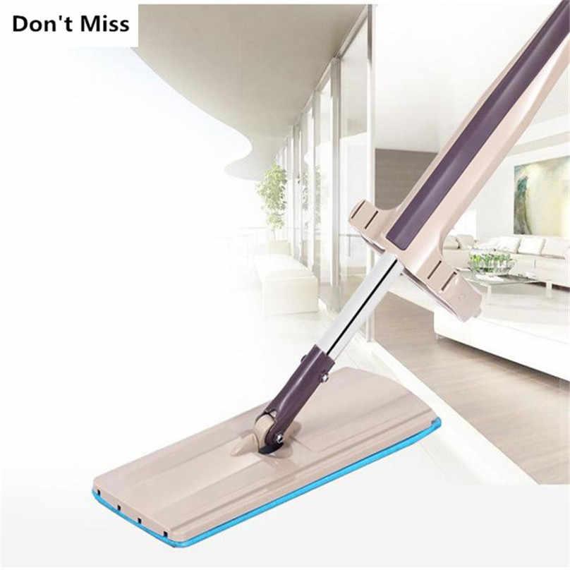 Flat Mop Mão Livre Lavagem Ferramenta de Limpeza de Spin Mop Punho de Aço Inoxidável Início Casa Escritório Almofada De Microfibra Chão Da Cozinha Limpa