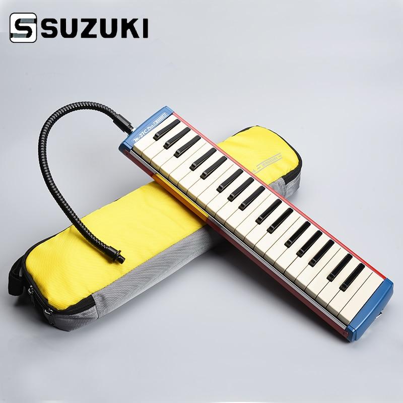 Suzuki Alto M-37C Plus Keyboard Harmonica Melodion Alto Melodica with Case Professional Performance suzuki s 32c soprano melodion with case and mouthpiece 32 key melodica professional performance
