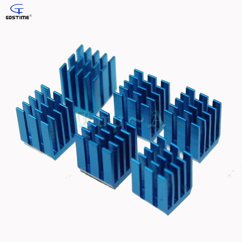 Gdstime 20 PCS High Qaulity Extruded Aluminum Heatsink With 3M Tape 9x9x12mm Heat Sink Cooling Radiator GDT-X9 e cap aluminum 16v 22 2200uf electrolytic capacitors pack for diy project white 9 x 10 pcs