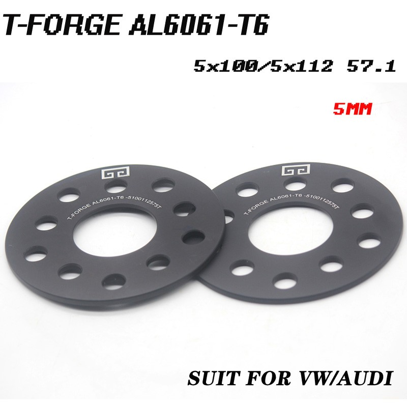 2 Pieces 1//8 3mm Hub Centric Wheel Spacers Adapters Bolt Pattern 4x100 4x108 Center Bore 57.1mm Fits VW Audi