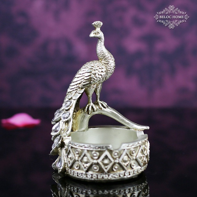 Peacock Ashtray, Home Decoration And Office Supplies,Modern European Home  Furnishings