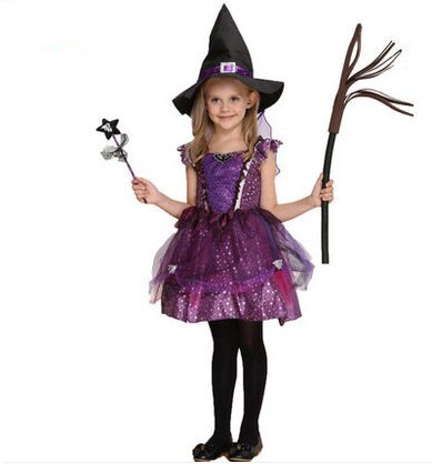 halloween costumes witch costumes for kids purple dress ...