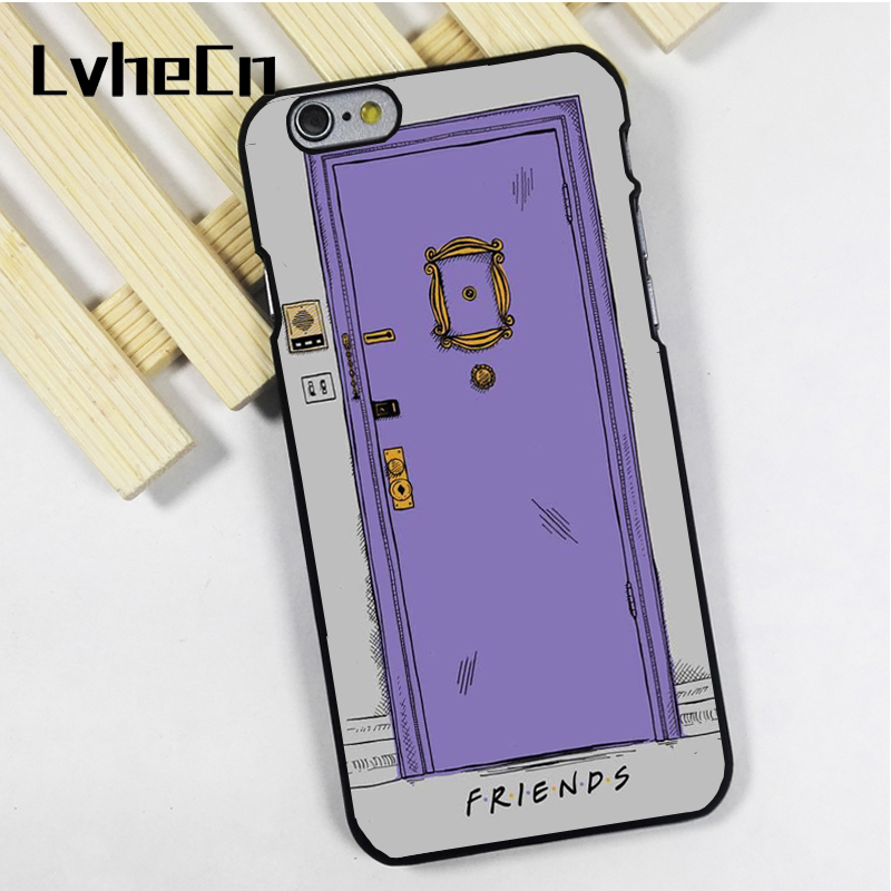 LvheCn phone case cover fit for iPhone 4 4s 5 5s 5c SE 6 6s 7 8 plus X ipod touch 4 5 6 Friends TV Show Monicas Door Peep Hole