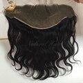 13 * 6 фронтальная закрытие в тела волна бразильский девственные волосы фронтальная закрытие детские волосы отбеленными узлами бесплатная доставка