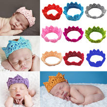 Knitting Crown Newborn Photography Props Cute Baby Caps Soft Knitted Hat Bebe Infant Headband Crochet Girl Hats