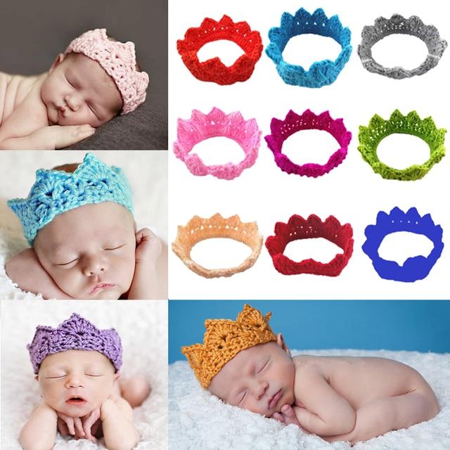 Stricken Crown Neugeborene Fotografie Props Nette Baby Mützen