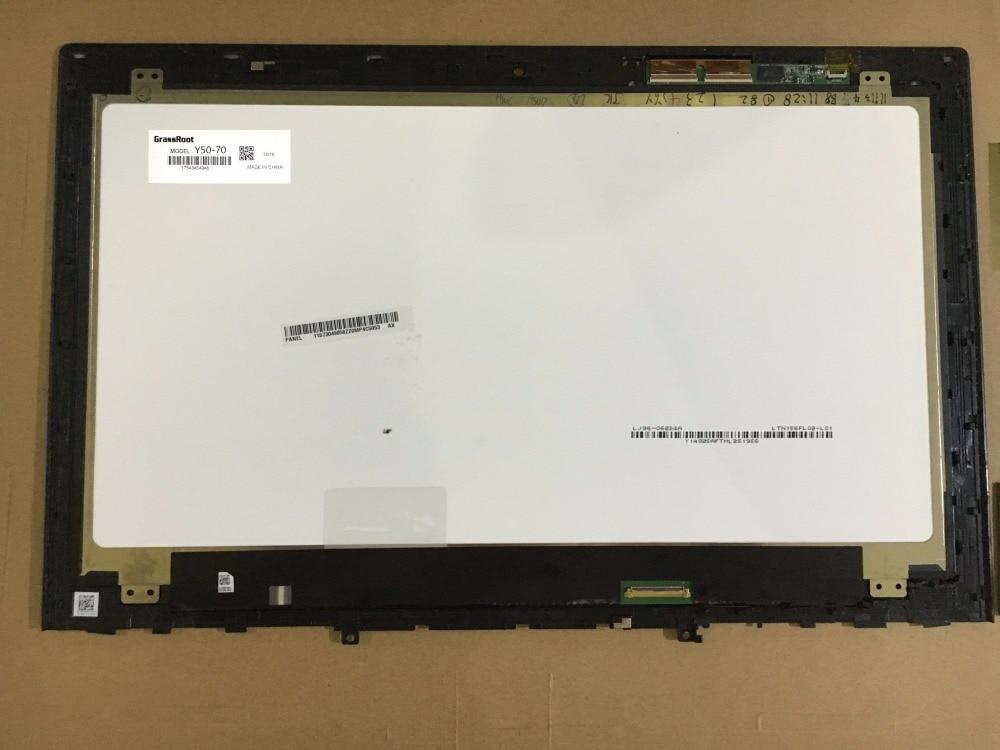 купить GrassRoot 15.6 inch LCD Screen & Digitizer LTN156FL02  for Lenovo Y50-70 LED+Touch UHD LCD Screen Assembly Display онлайн