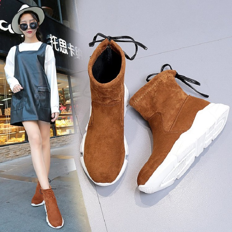 dwayne Spring and Autumn new womens boots frost stretch elastic bottom casual wild socks shoes
