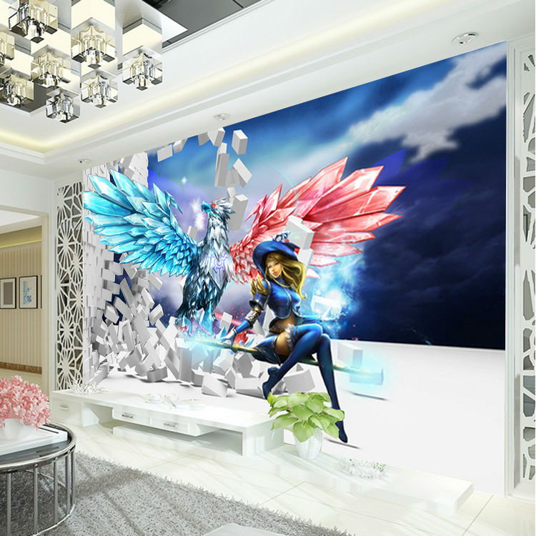 League Of Legends Photo Wallpaper 3D Game Wall Mural Custom Wallpaper Boys  Bedroom Livingroom Giant Wall Paper Brick Wallpaper In Wallpapers From Home  ...