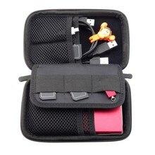 Waterproof Double Layer Cable Storage Bag Electronic Organizer Gadget Travel Bag USB Earphone Case Digital Organizador