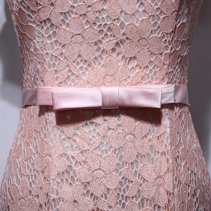 Elegant mama de rochii de mireasa de pe umăr Bow Floral Lace Mermaid - Rochii de seară de nuntă - Fotografie 4