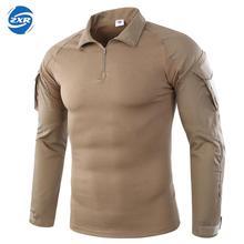 Мужские походные рубашки, уличная походная футболка, Военная тактическая рубашка, Мужская камуфляжная рубашка для стрельбы, охоты размера плюс S-2XL