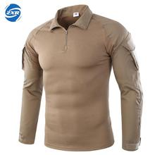 Men's Hiking Shirts Outdoor Hiking T-shirt Military Tactical Shirt Men Camouflage Shirt For Shooting Hunting Plus Size S-2XL