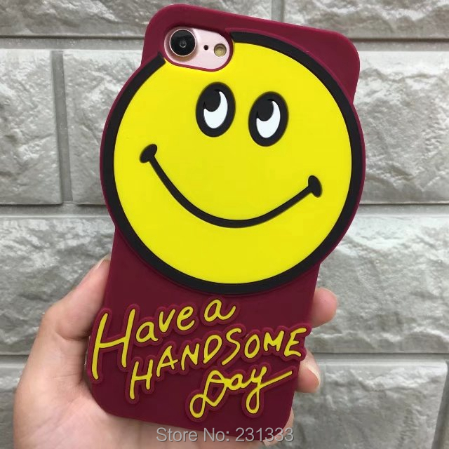 3D Cartoon Smile Soft Silicone GEL Case For Iphone X 8 I8 7 PLUS I7 7plus 6 6S I6 IphoneX Cute Cell Phone Skin Cover Luxury 1pcs