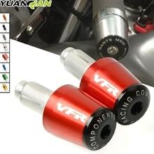 For HONDA VFR800 VFR 800 Motorcycle CNC 7/8 22MM Handlebar Grips Handle Bar Cap End Plugs 750 1200F