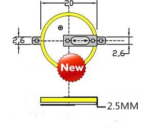 Image 3 - 100% ใหม่CR2025 บัดกรีเท้าแบตเตอรี่ 3V 180 องศาบัดกรีเท้าแบตเตอรี่SMDบัดกรีเท้าแบตเตอรี่