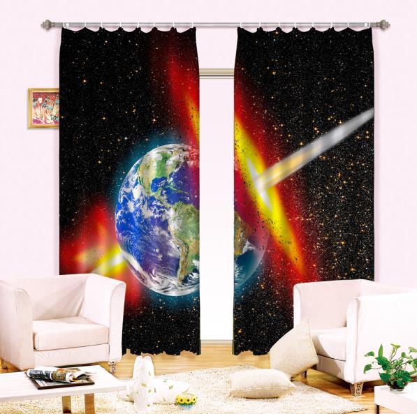 Curtains For Kids Boy Room Knight Horse Window Bedroom: Fantasy Universe Galaxy 3D Blackout Curtains For Kids Boys