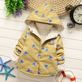 2016 Baby cartoon trench coat in spring and autumn outfit 2016 boys girls thin coat old boy children cotton windbreaker HW004
