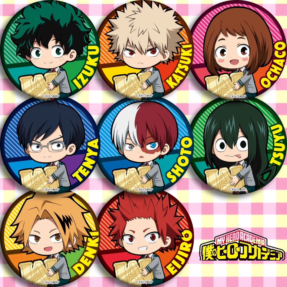 58MM Japan Anime My Boku No Hero Academia Midoriya Izuku Cosplay Bedge Cartoon Collect Backpack Bag Badge Button Brooch Pin Gift