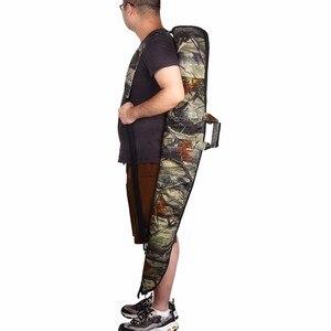 Image 5 - Sac à fusils tactique Oxford 600D, tissu Camo, étui pour pistolets de chasse de 130cm, bandoulière, Holster caché, pochette daccessoires