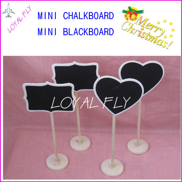 30PCS Small Wooden Hearts/rectangle Blackboard,Wedding Table - Festive and Party Supplies