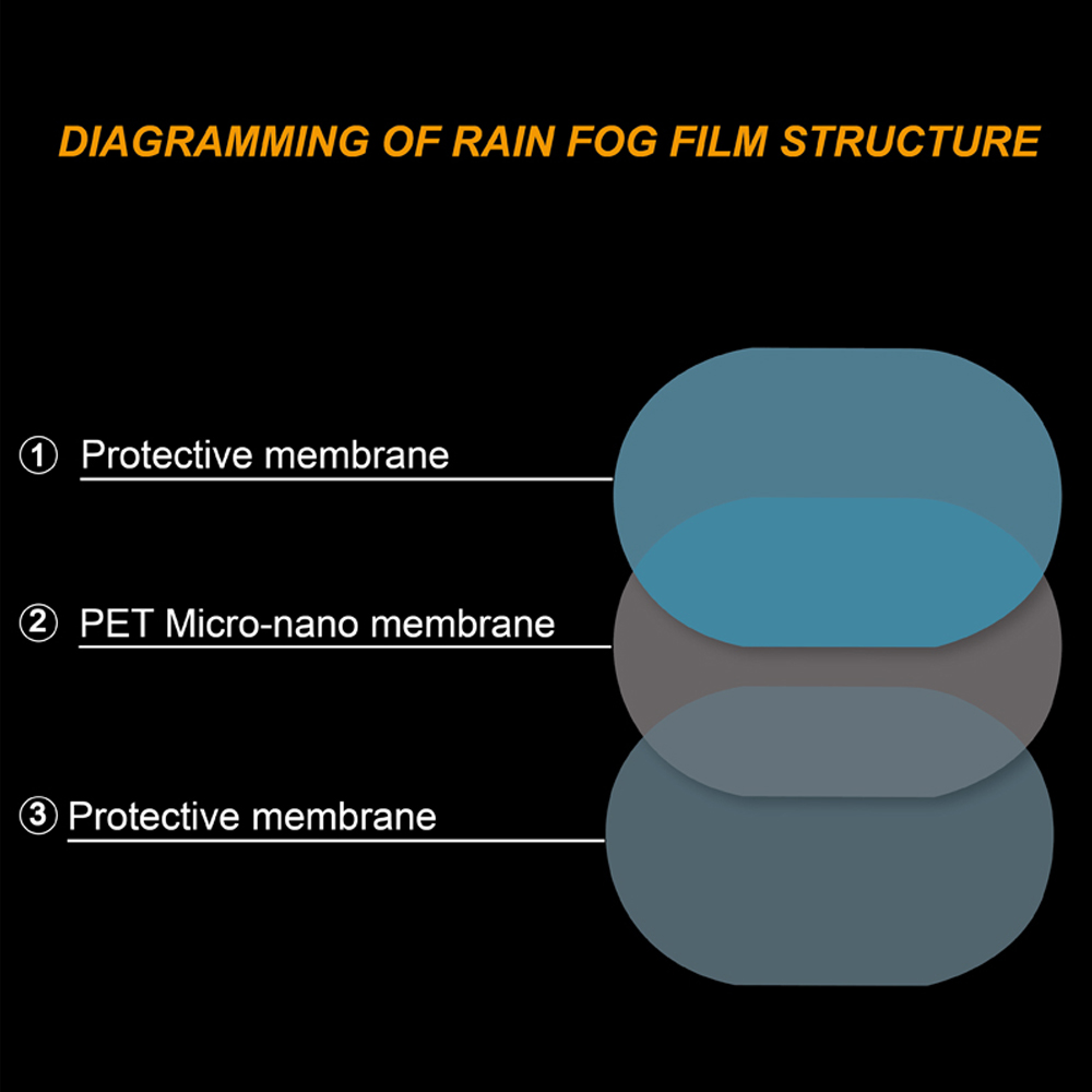 2PCS/pair Car Mirror Window Clear Film Anti Dazzle Car Rearview Mirror Protective Film Waterproof Rainproof Anti Fog Car Sticker