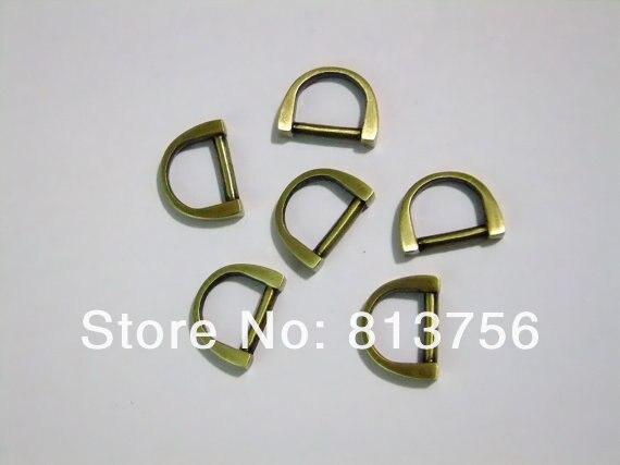 ộ_ộ ༽200 piezas 3/8 \'\'(diámetro interior) anillos D-latón antiguo ...