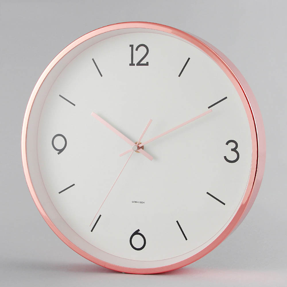 Pleasing Nordic Minimalist Inch Circular Wall Clock Fashion Rose G Metal Clockbedroom Mute Wall Wall Clocks From Home Garden On Nordic Minimalist Inch Circular Wall Clock Fashion Rose G
