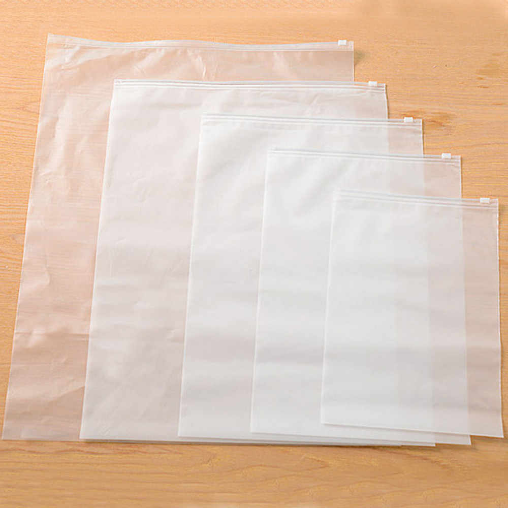 1 pcs Translúcido Zip À Prova D' Água Saco de Armazenamento De Roupas de Underwear Socks Organizador Sacos De Armazenamento Em Casa de Viagem Portátil Sacos EY11