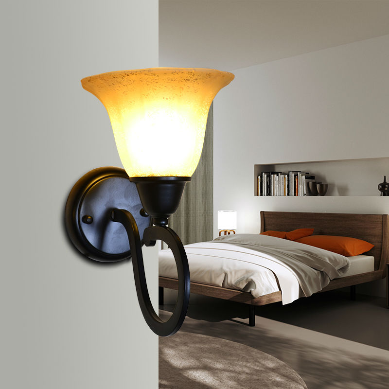 Black Wrought Iron Wall Sconce Outdoor