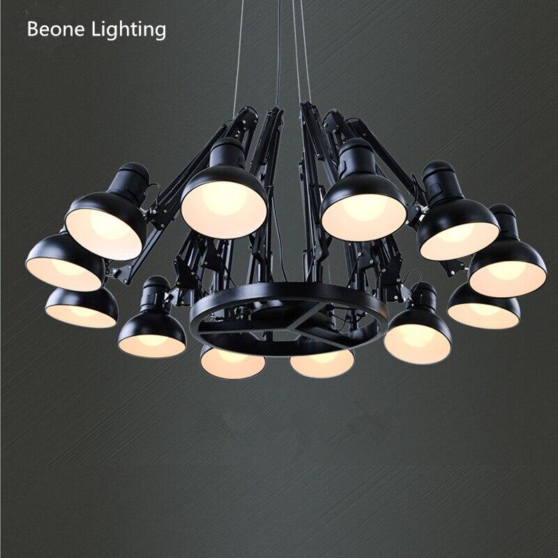Réplique Ron Gillad Cher Ingo Suspension Lumière Free Gratuite E27 12 têtes Moderne Pays Araignée Pendentif Lumière Pendentif lampe