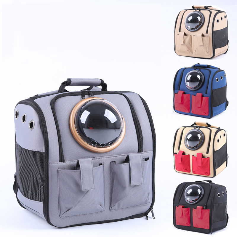 Outdoor Capsule Pet Dog Carrier Bag Puppy Front Bag Breathable New Double Shoulder Portable Travel Backpack