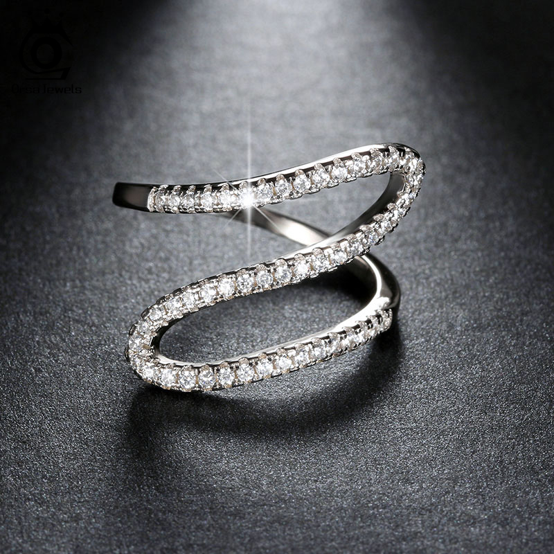 ORSA JEWELS New Arrival Unique Infinite Ring with AAA Cubic Zirconia Hot Sale Ring Best Birthday