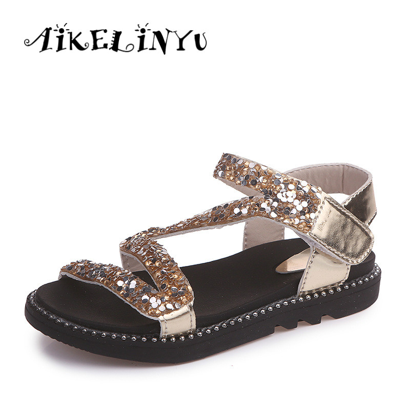 Buy golden sandals flat for girls and get free shipping on AliExpress.com eec71b704303