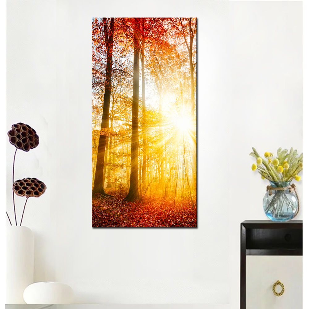 Large Size Natural Landscape Canvas Printings, Autumn Forest In ...