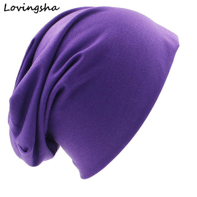 LOVINGSHA Fashion Brand Autumn And Winter Hats For Women Solid Design Ladies thin hat Skullies And Beanies Men Hat Unisex HT029B