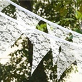 Flax Bunting Banners Home Garden Wedding Decor Flax/Lace Hanging Flags