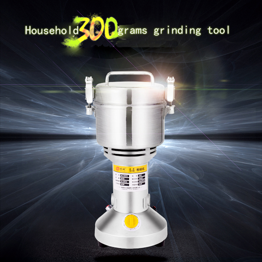1PC Hot sell Swing Portable Grinder 300g Spice Small Food Flour Mill Grain Powder Machine Coffee Soybean Pulverizer 1000g swing food grinder milling machine small superfine powder machine for coffee soybean herb sauce grain crops