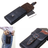 Leather Hook Loop Belt Clip Mobile Phone Case Dual Pouch For Nokia 3 Oneplus 5 Elephone