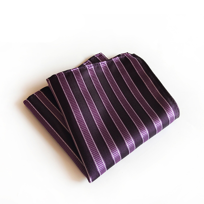 Mantieqingway Striped Printed Pocket Square Handkerchiefs For Men Suit Formal Polyester Hankies Hanky Wedding Party Chest Towel