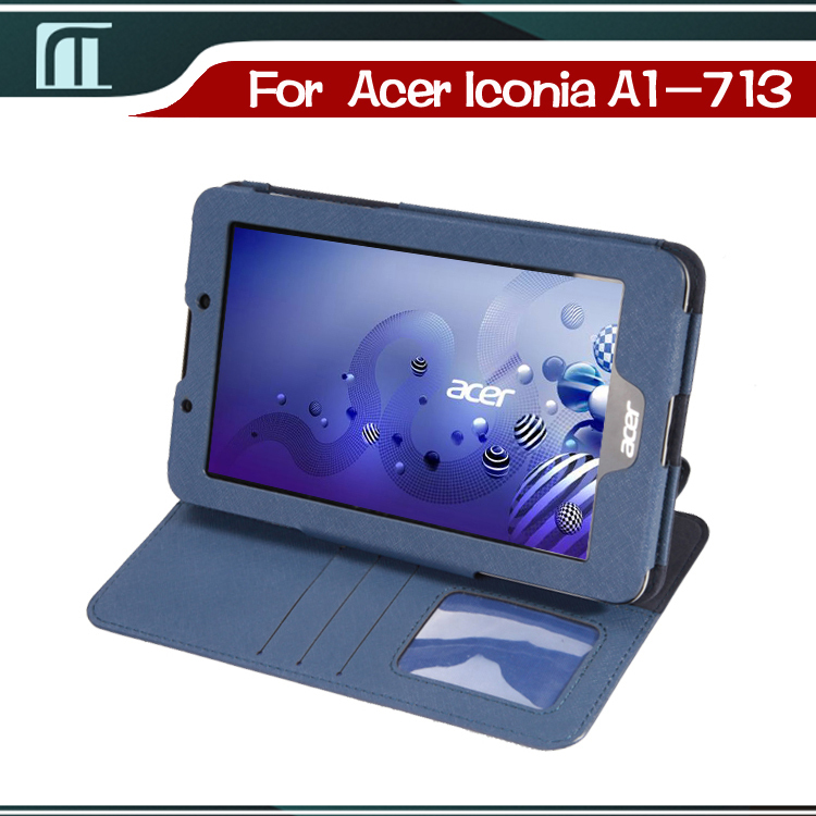 HOT New A1-713 A1 713 Stand PU Leather Cover Case For Acer Iconia A1-713HD A1 713HD Tab Case with Card Photo Slot