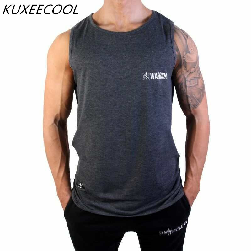 New clothing mens Summer Fitness Bodybuilding   Tank     Tops   Cotton Vest Clothes sleeveless shirts Muscle male fashion undershirt