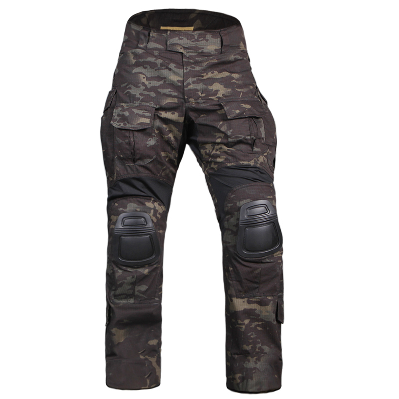 Emerson gear G3 Pants with knee pads Combat Tactical airsoft Pants EM7043 MultiCam Black MCBK Crye colorblock double breasted coat