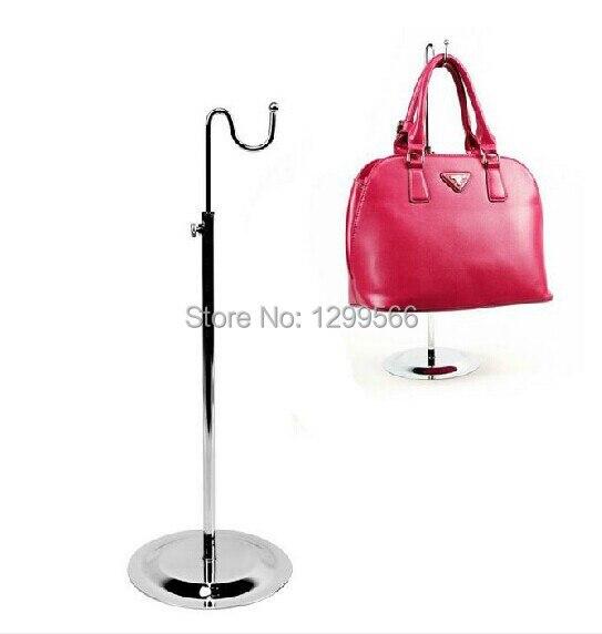 2 Stück Freies Verschiffen Einzel Gebogene Haken Licht Hängen Verstellbare Handtasche Rack Display/seide Schals Display-ständer