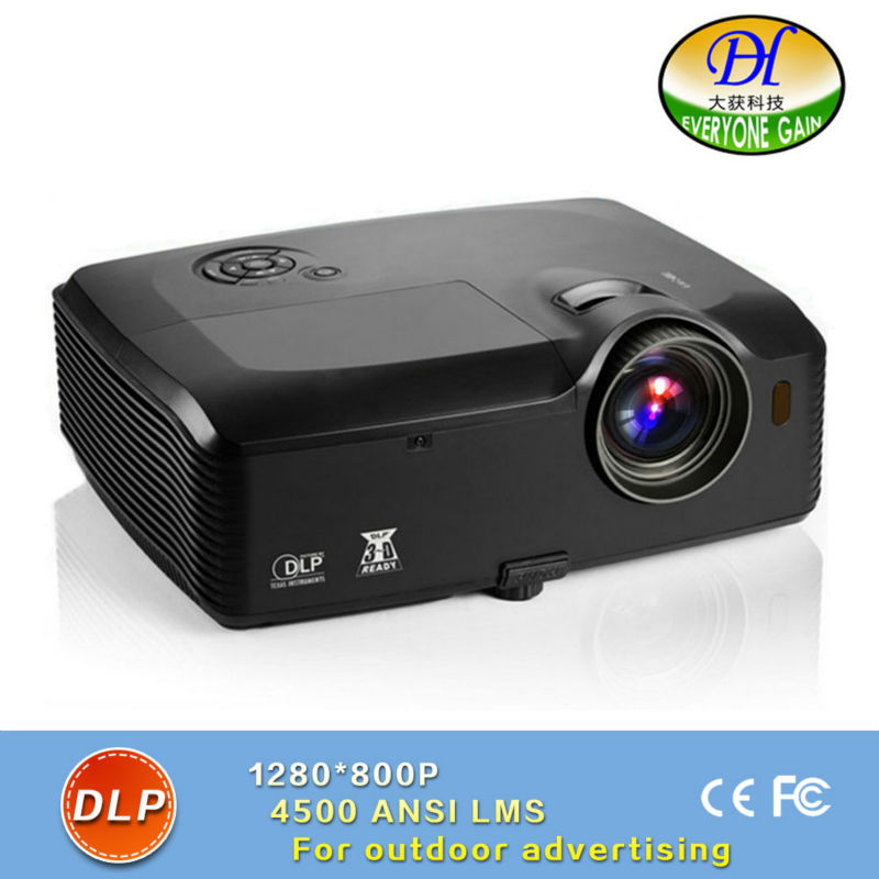 DH-8000 Outdoor Projector For 300 inch 4500 Lumens Full HD 1280*800 Proyector data shows Support 1080p Projector