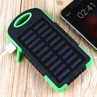 10000 mAh Universal Dicke Wasserdichte Schnell Solar-ladegerät Dual USB Externe Ladegerät Batterieleistungbank 3 Licht Modus für Outdoor