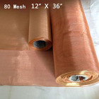 100% Microns-Copper Woven 80 Mesh 12