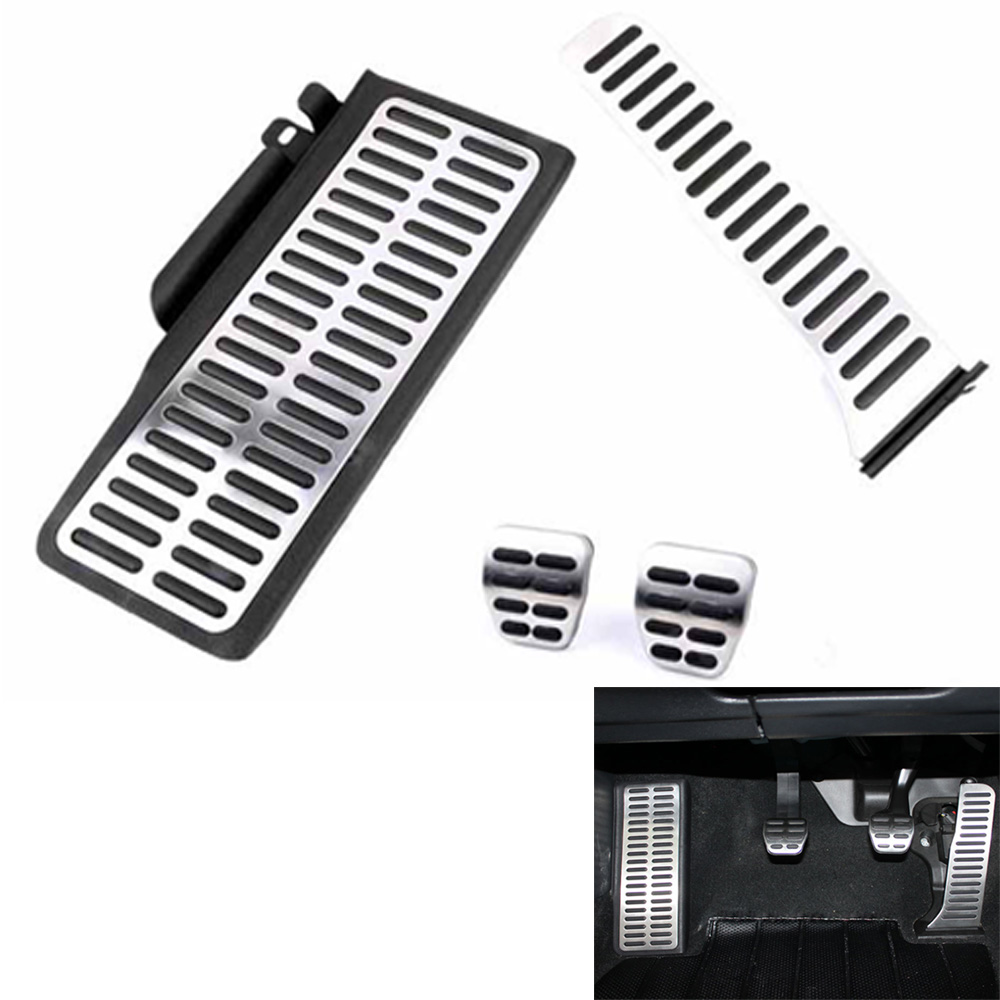 Stainless Car Pedal For Volkswagen VW Golf 5 6 GTI Octavia Jetta MK5 Scirocco LHD Fuel Footrest Pedals <font><b>Cover</b></font> Accessories