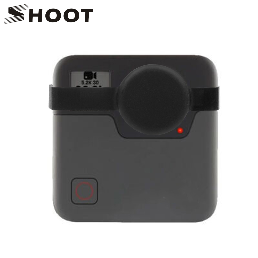 SHOOT Soft Silicone Protective Lens Cap For GoPro Fusion 360-degree Action Sports Camera For Go Pro Fusion Camera Accessories